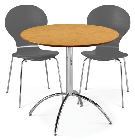 Kimberley Dining Set Natural & 2 Slate Grey  Chairs Sale Now On Your Price Furniture
